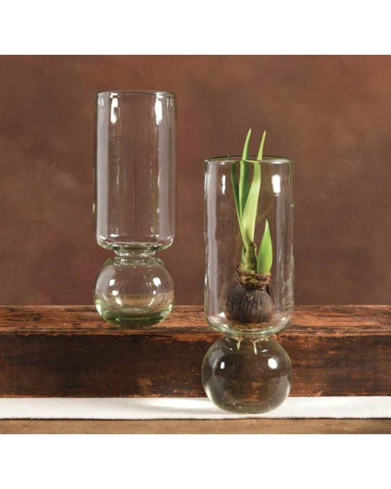 Extra Tall Recycled Glass Bulb Vase