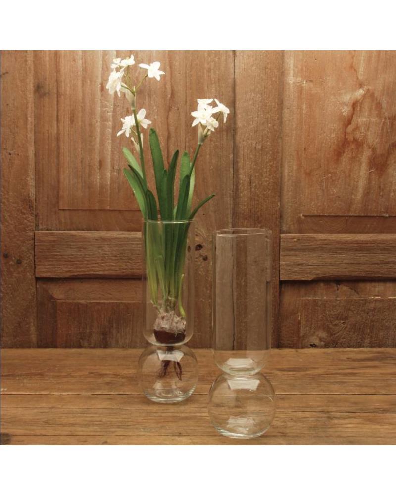 Tall Clear Bulb Vase