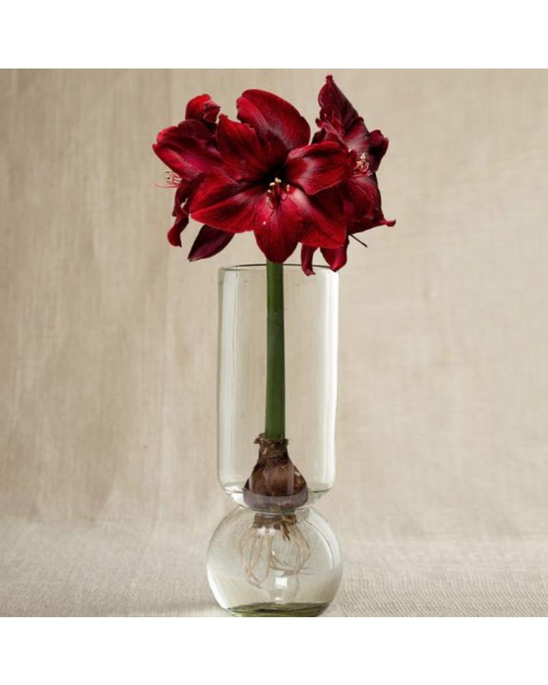 Tall Recycled Glass Bulb Vase