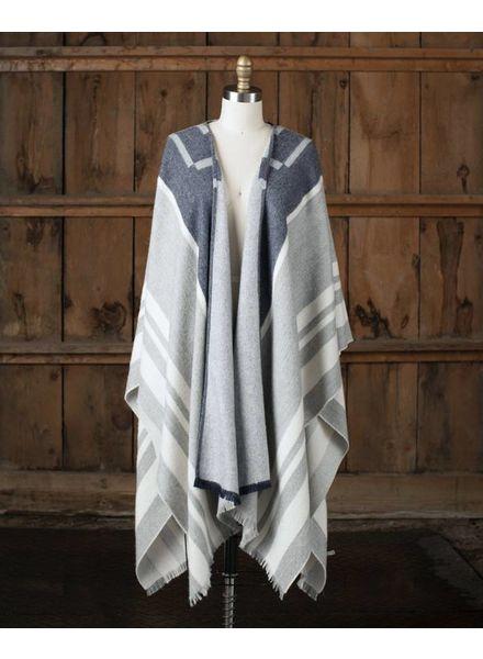 Mazing Blanket Cape, Light Grey