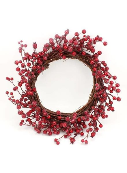 Icy Red Berry Wreath
