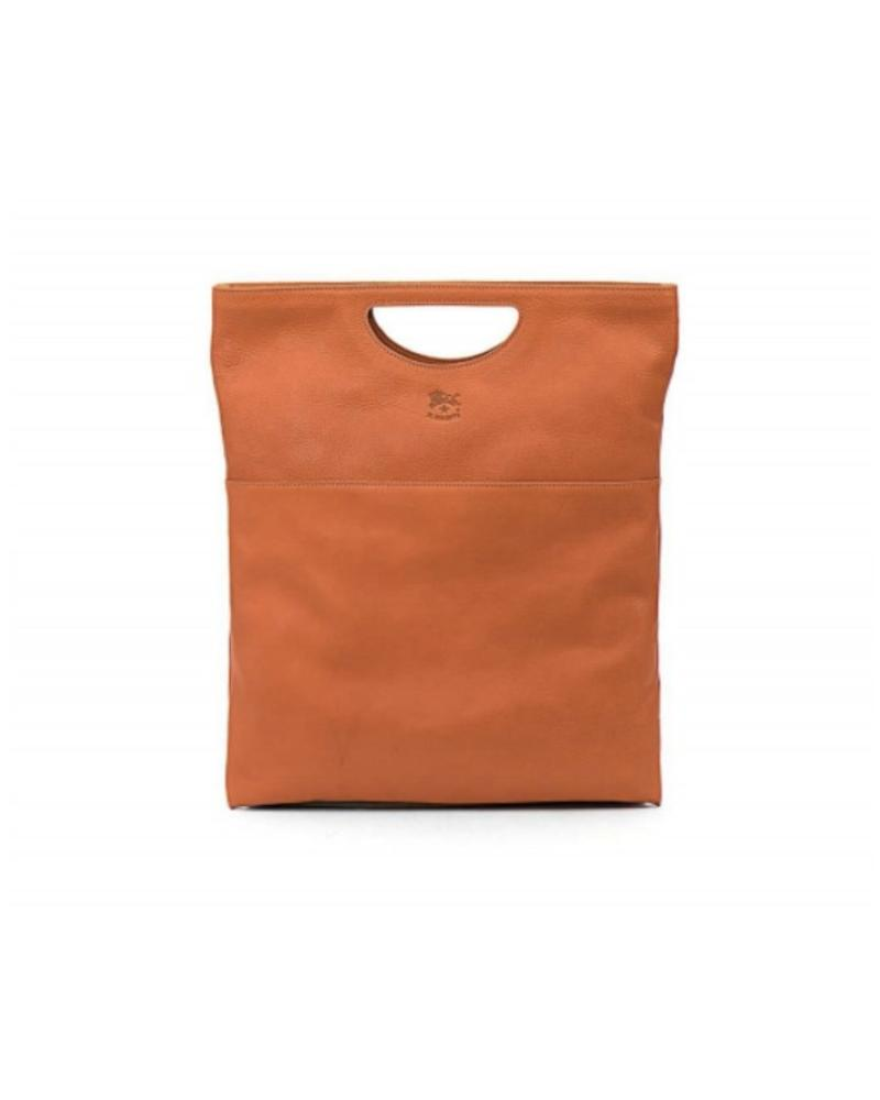 Cowhide Handbag (A2447.P)-Caramel
