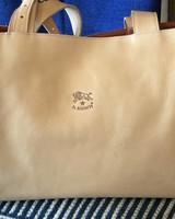 Cowhide Handbag (A1618p)-Natural