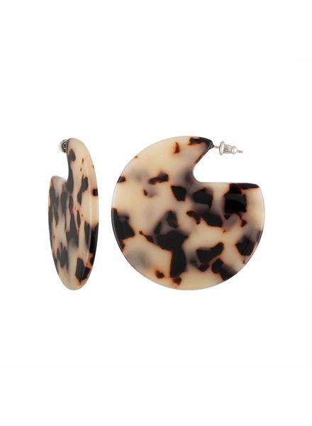 MACHETE Clare Earrings Blonde Tortoise