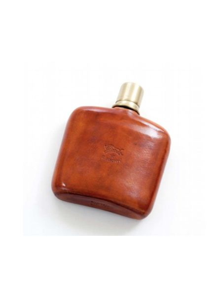 Cowhide Cognac Bottle Covered (C0243)-Cuoio Natural
