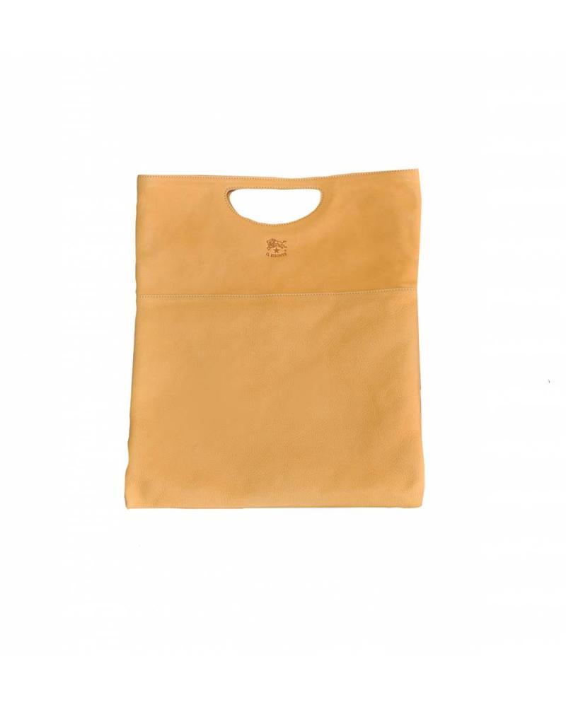 Cowhide Handbag (A2447.P)-Natural