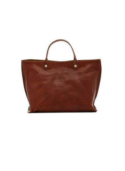 Cowhide Shoulder Bag (A2549.PO)-Seppia V