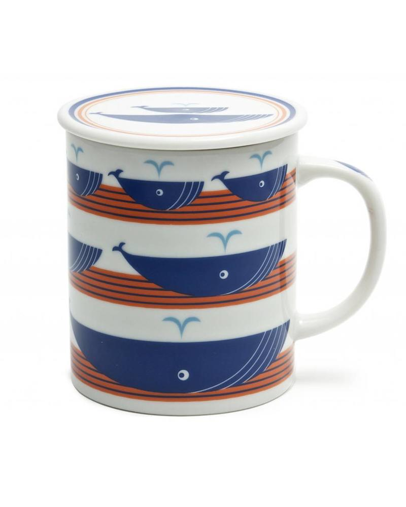 MUG 8oz W/LID WHALE ORANGE