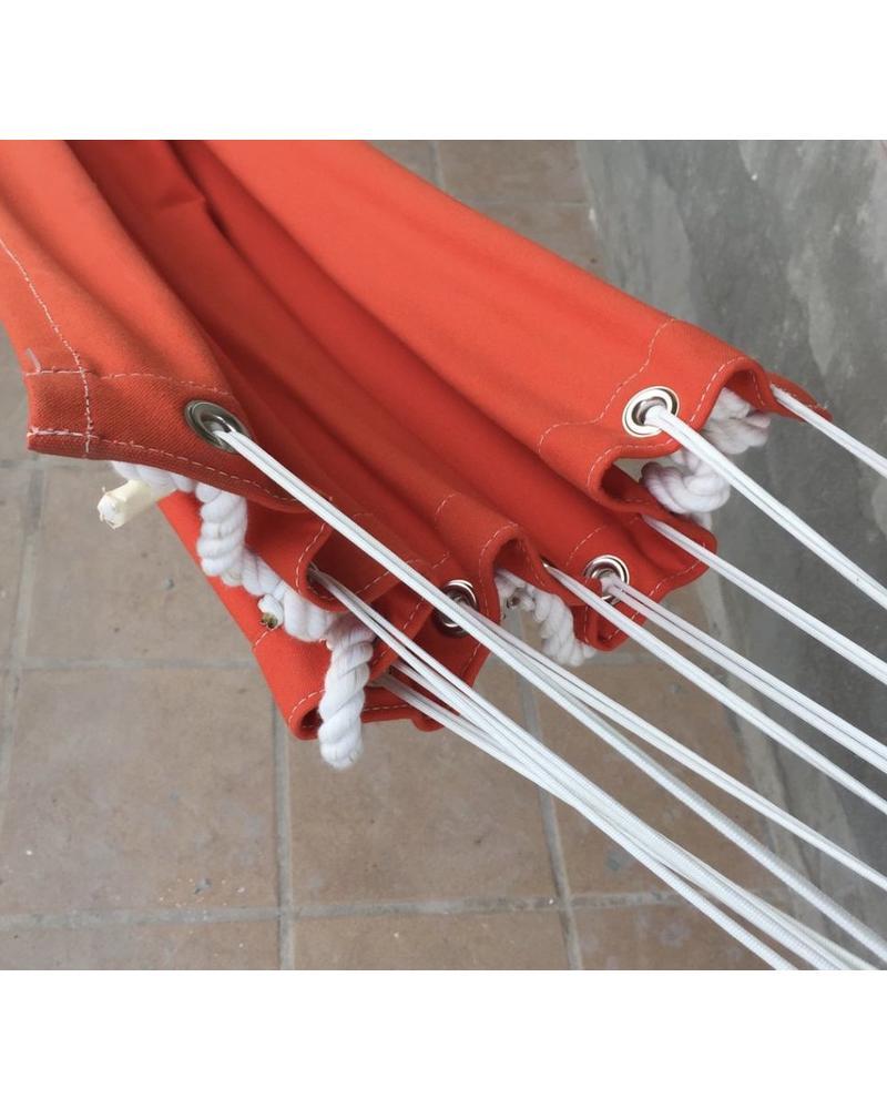 Hammock-18 oz Cotton Canvas O Ring-Orange