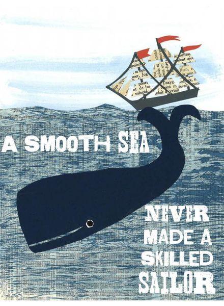 Smooth Sea Greeting Card