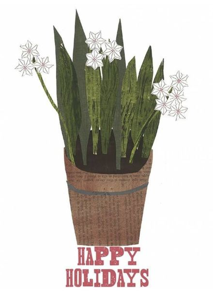 Holiday Paper Whites Greeting Card