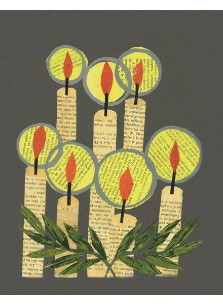 Holiday Candles Greeting Card