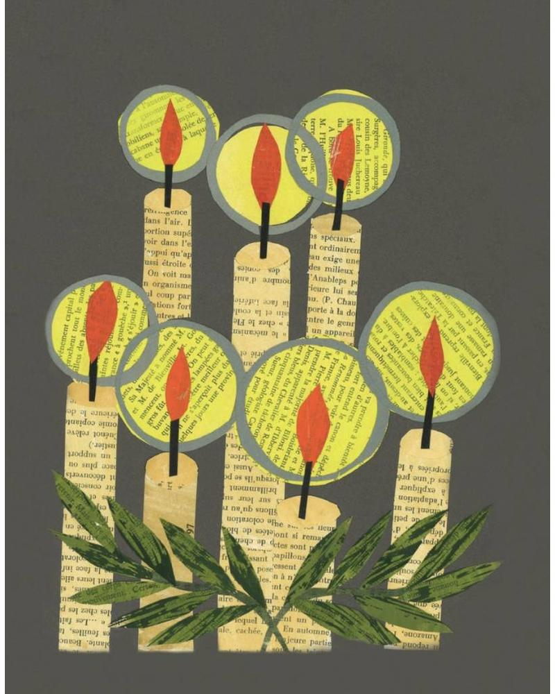 Holiday Candles Greeting Card