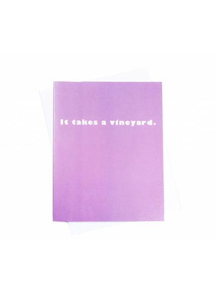 Takes a Vineyard, Greeting Card