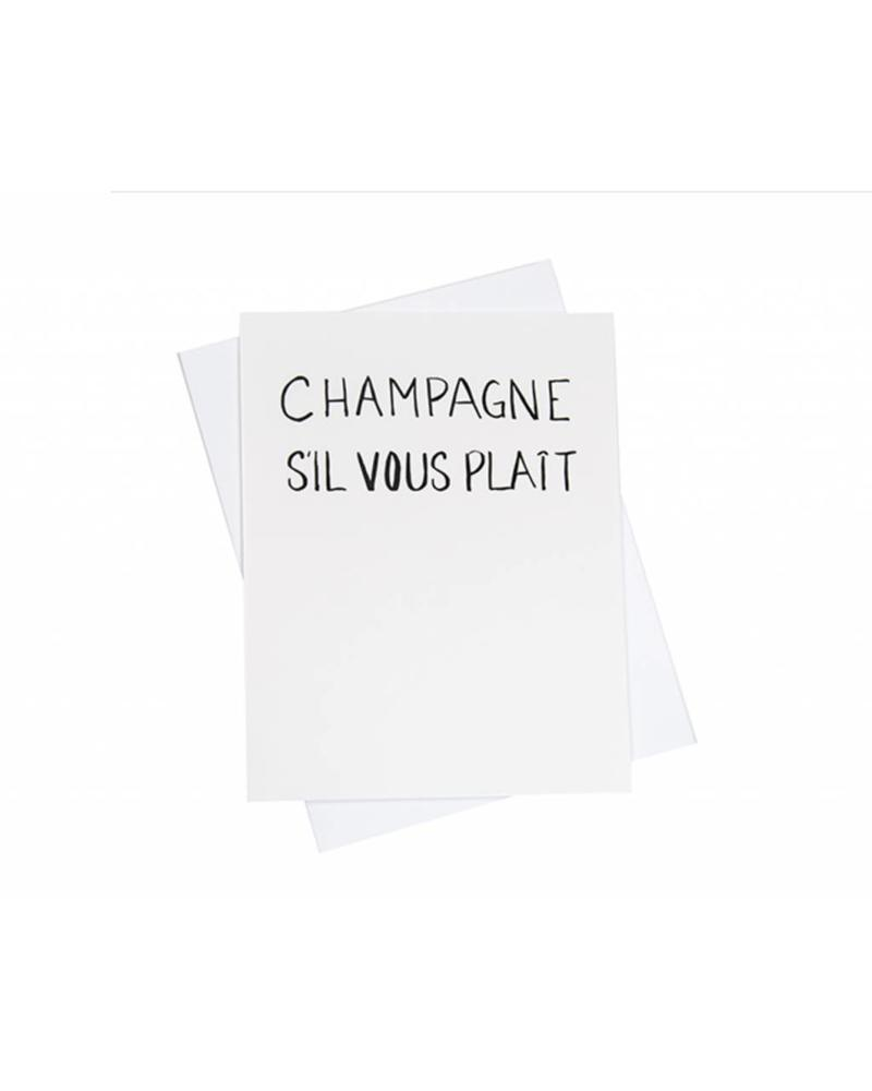 Champagne- Si Vous Plait, Greeting Card