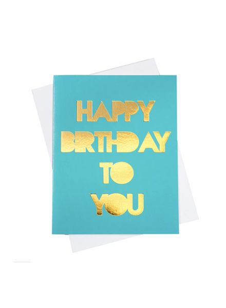 Happy Birthday (Gold Foil), Greeting Card