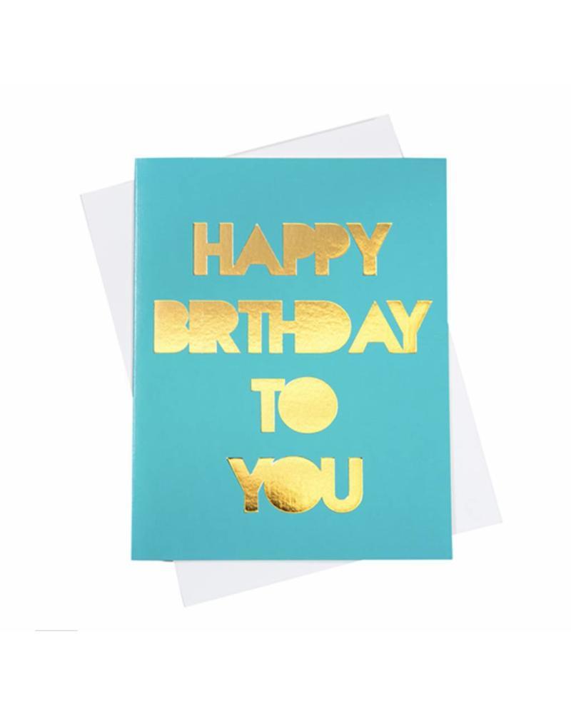 Happy Birthday (Gold Foil), Greeting Card