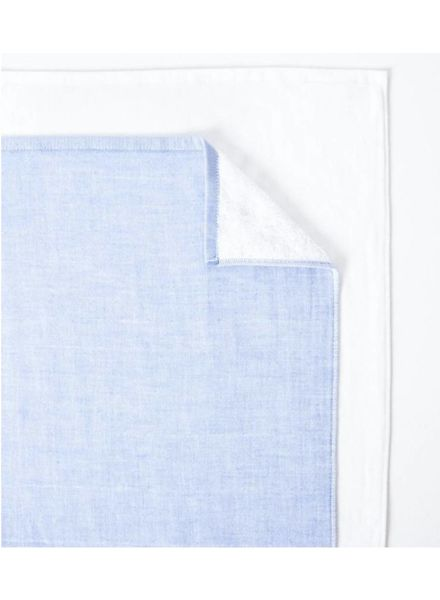Two Tone Chambray, Blue Hand towel
