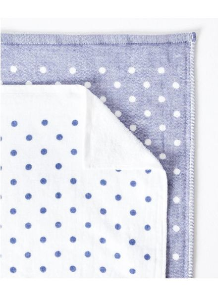 Polka Dot Chambray, Blue Hand Towel
