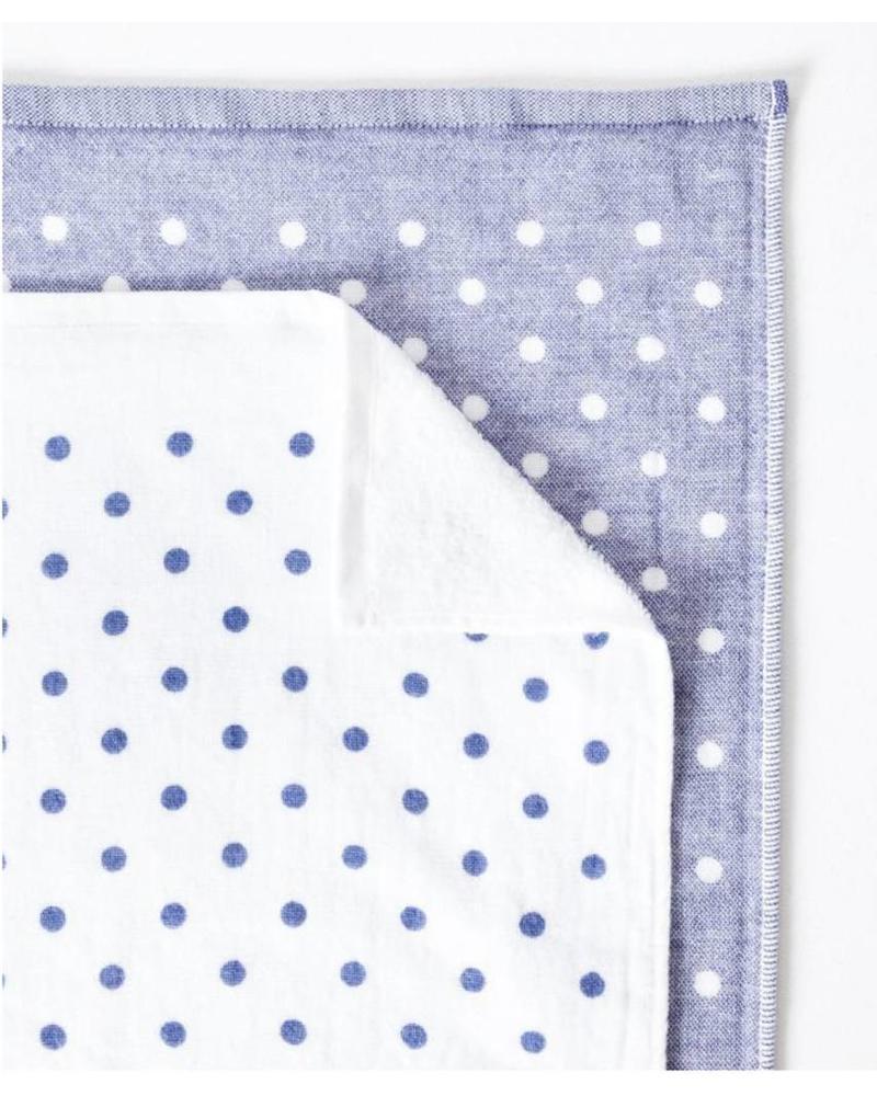Polka Dot Chambray, Blue Hand Towel