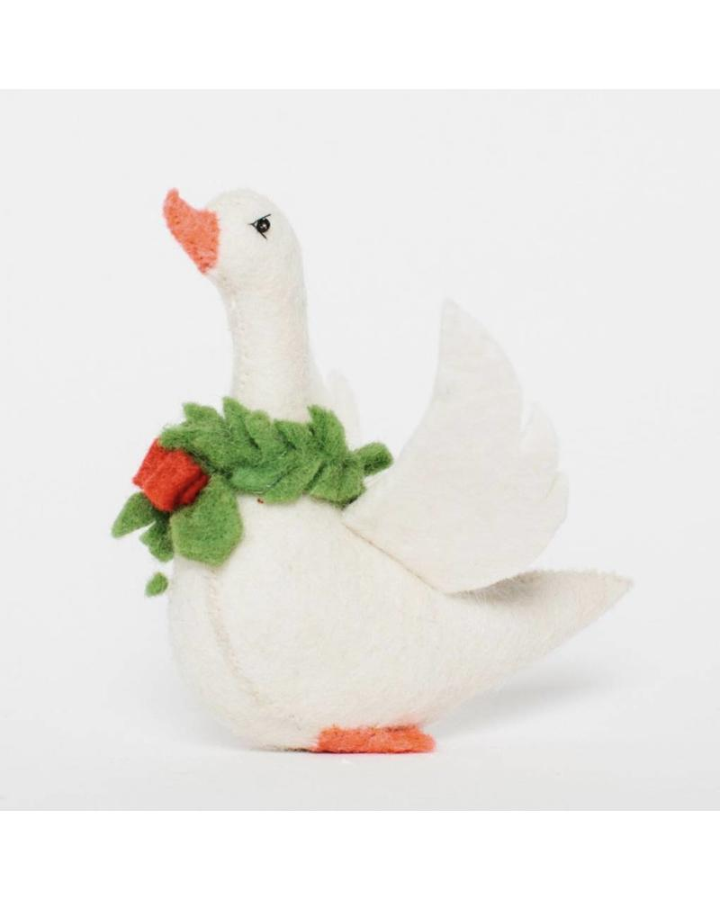 Frosty Festival: Standing Polar Pal: Christmas Goose-Small Ornament