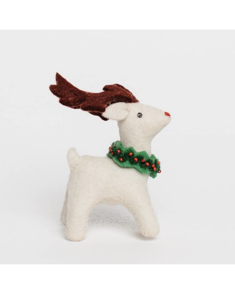 Animal Tales: Egg Nog Rudolph Ornament