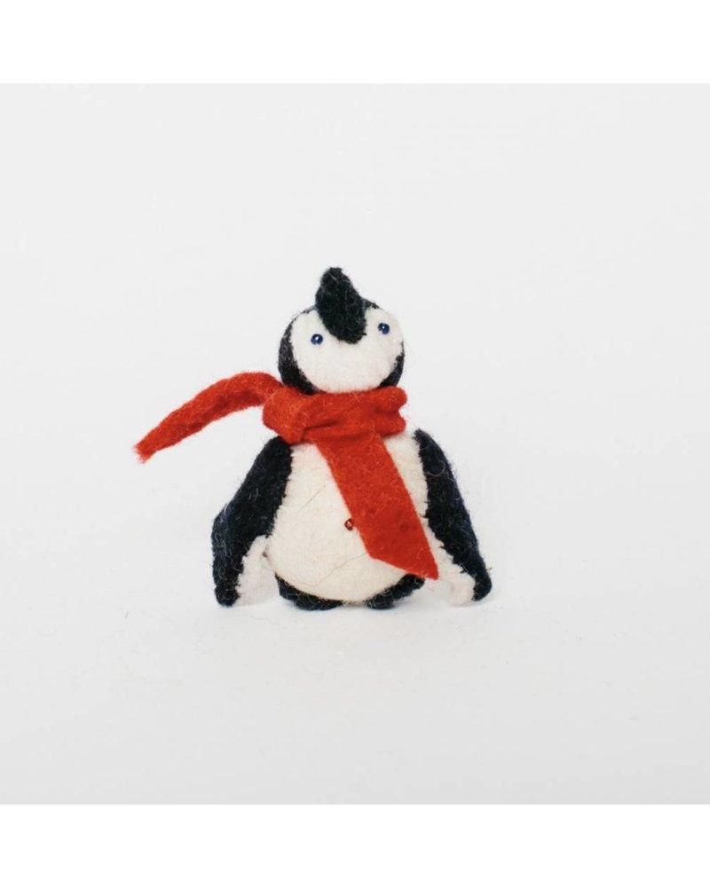 Classic Snowday: Little City Penguin-w/ scarf Ornament