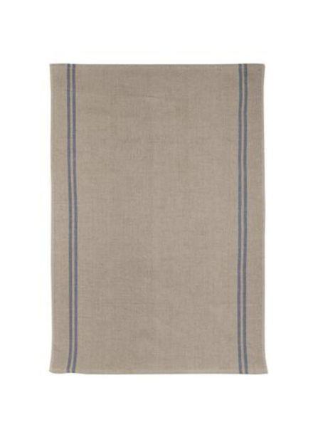 Country Blue Tea Towel 100% Linen