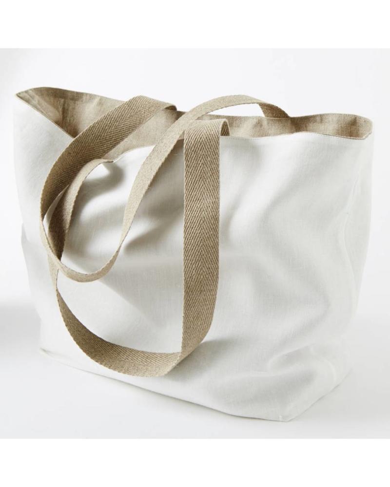 Initial White/Natural Bag