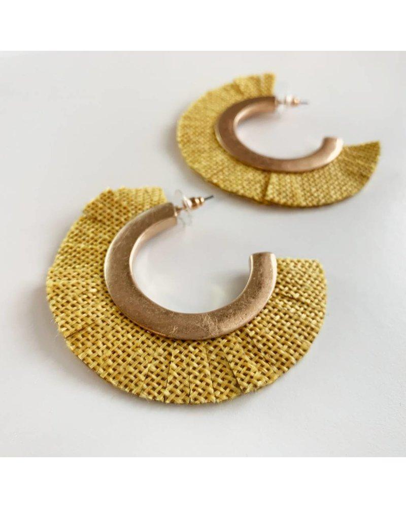 Fabric Hoops-Mari Gold