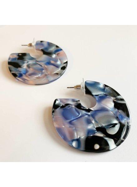 Blue Acrylic Hoops