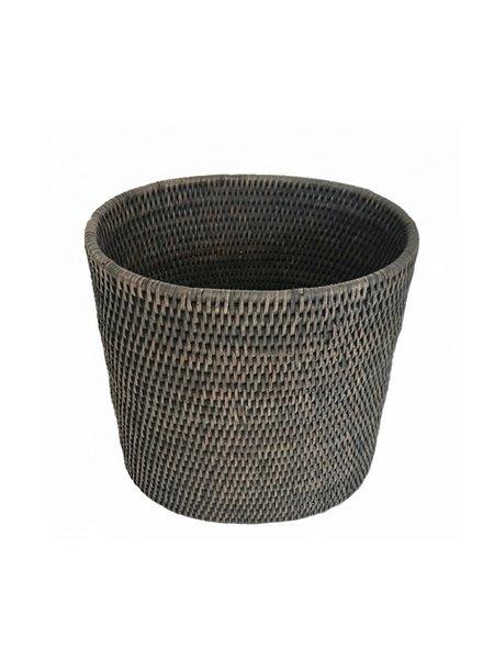 Oval Waste Basket Gray Wash
