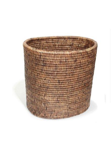 Oval Waste Basket White Wash