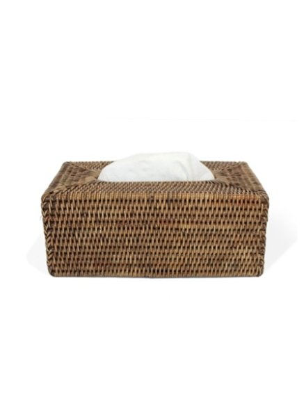 Antique Brown Rectangular Tissue Box