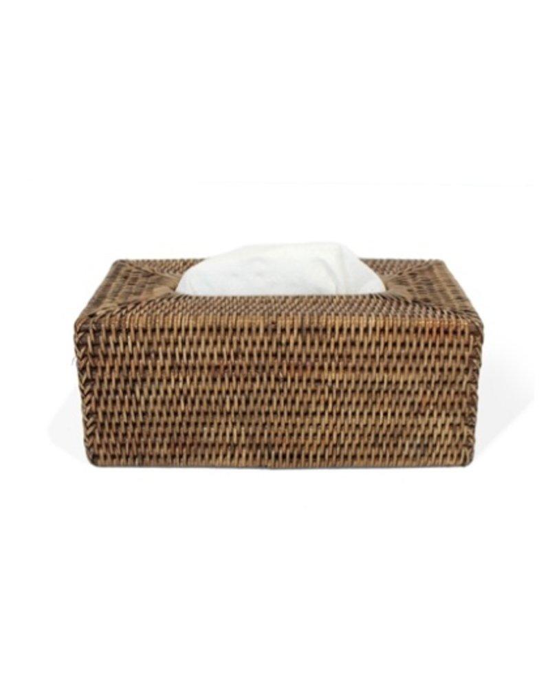 Antique Brown Rectangular Tissue Box