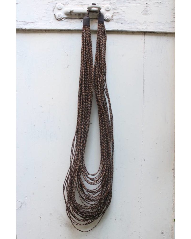 Navy & Tan Strand Necklace- Long