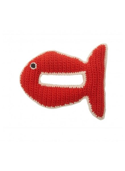 Crochet Fish Rattle- Mandarine