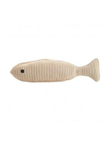Large Crochet Fish- Nautral