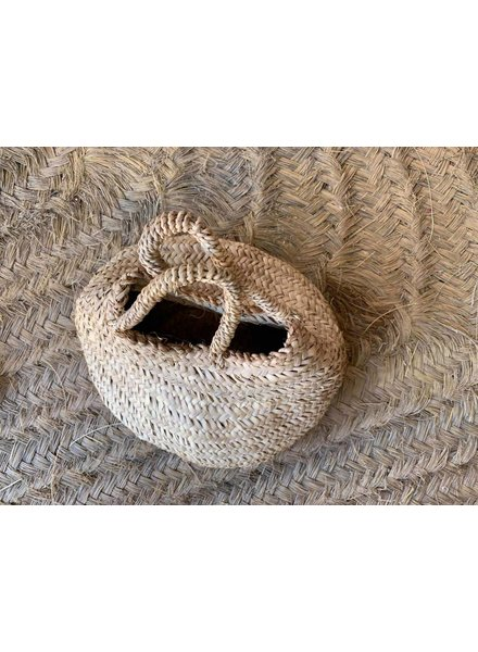 Short Seagrass Basket with Handles