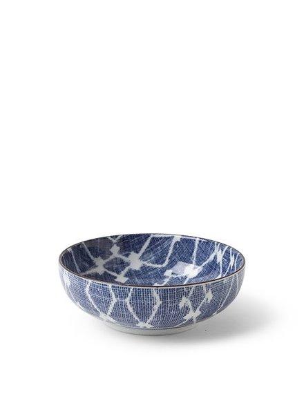 """Aizome Hishi 5"""" Shallow Bowl"""