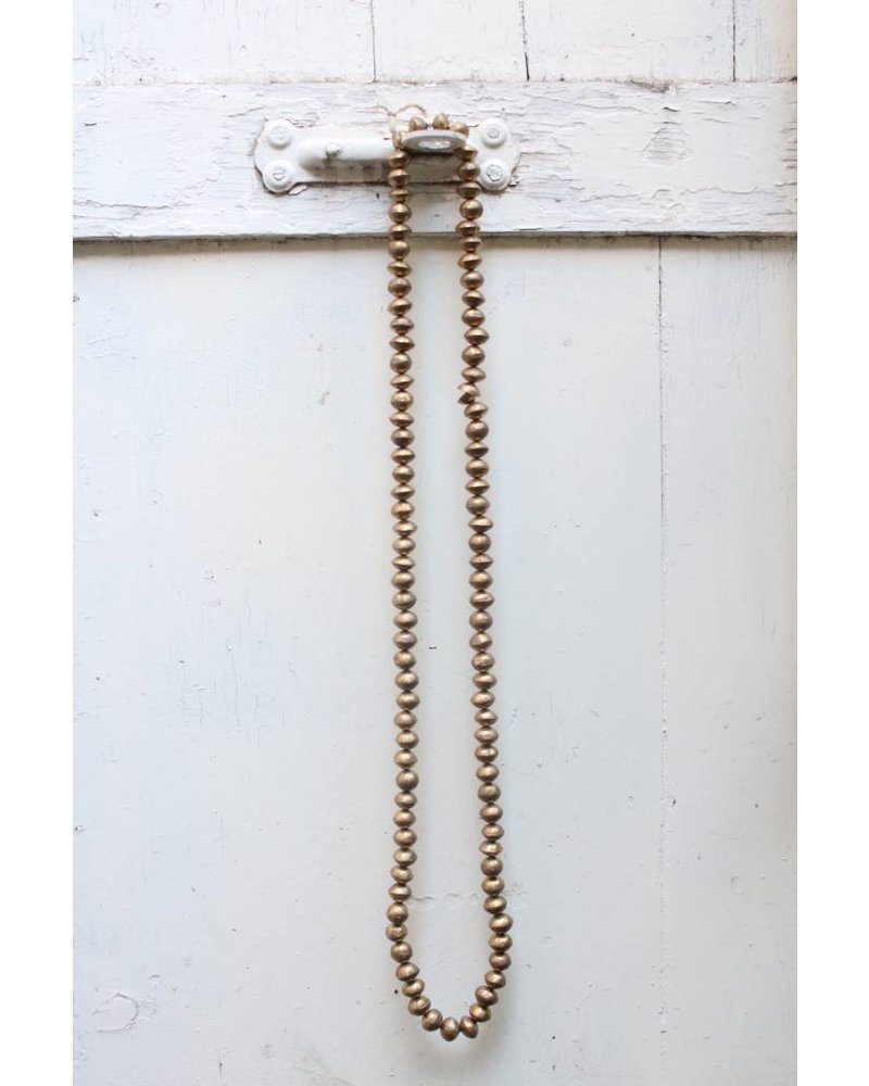 Gold Ball Necklace- Long