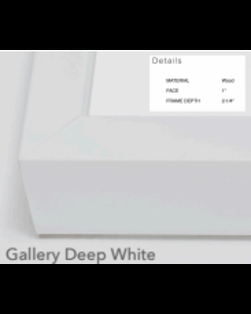"""Heron, Gallery White Frame 49.5"""" x 24"""""""