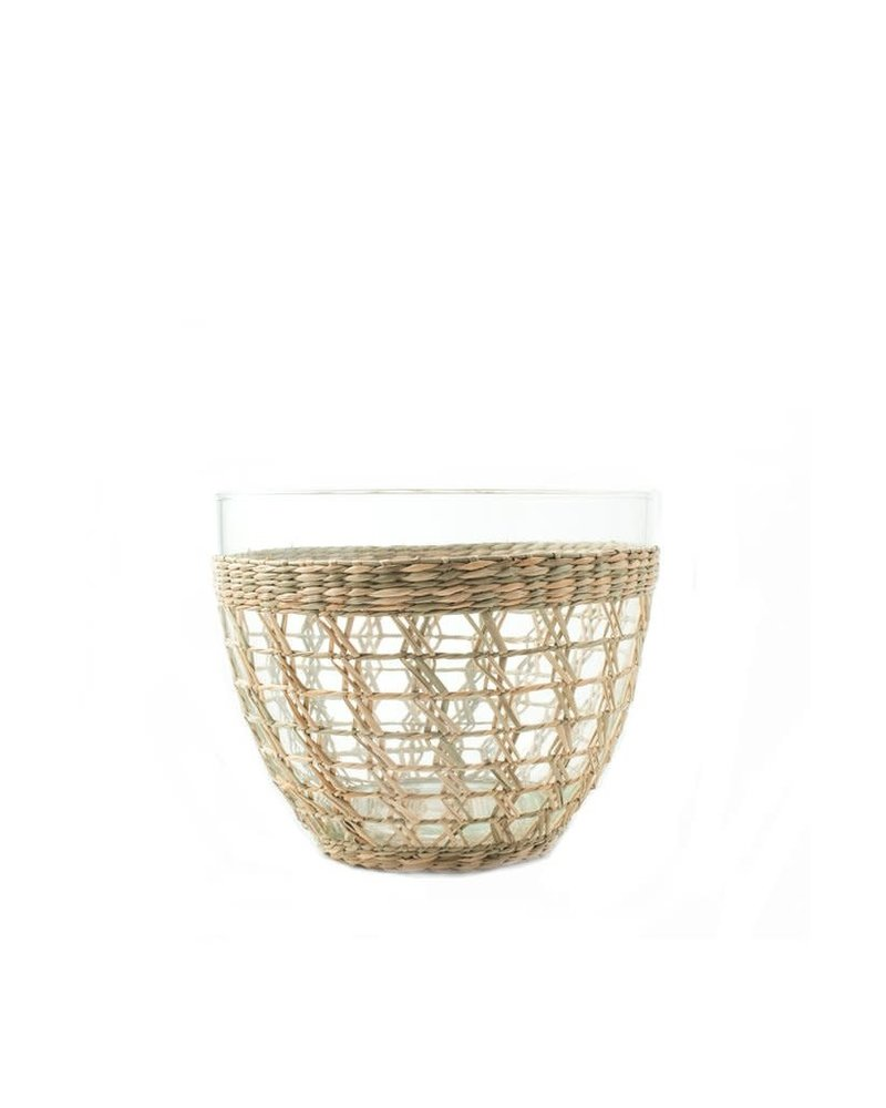 Seagrass Cage Salad Bowl- Large