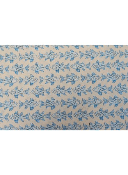 Wrapping Paper Sheet, Turquoise Fish