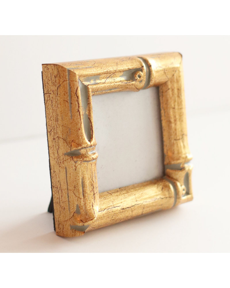 2x2 Gold Bamboo Frame