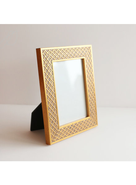 3.5 x 5 Gold Lattice Frame