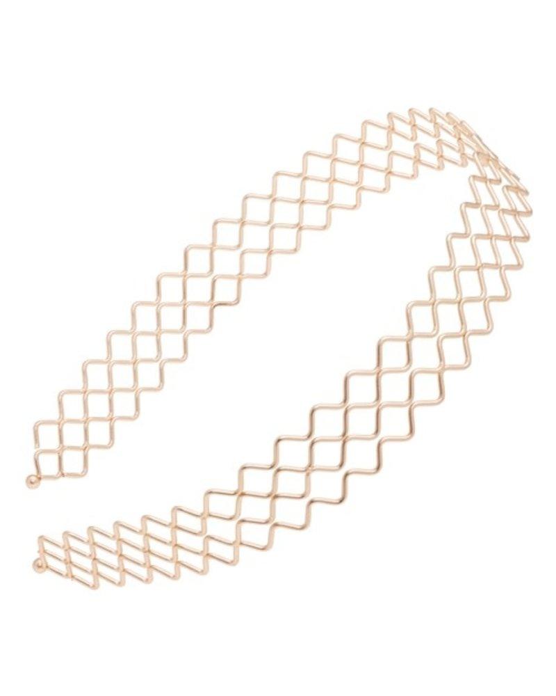 Matte Gold Zig Zag Headband