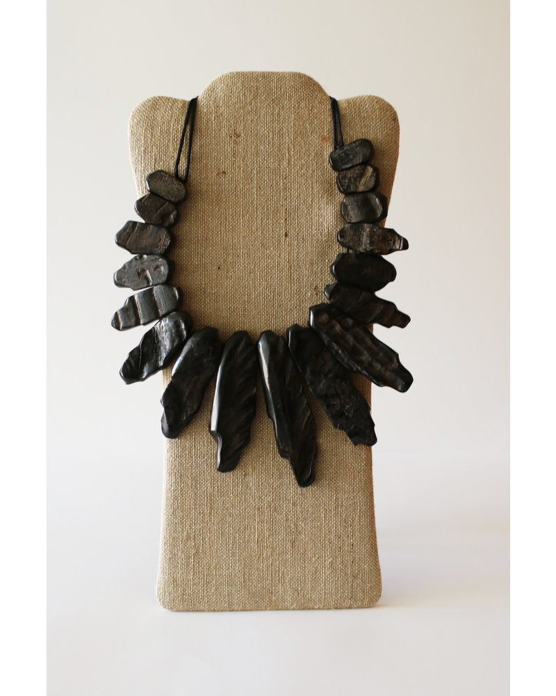 Rough Black Horn Necklace