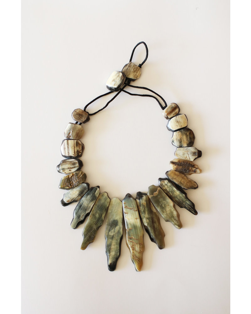 Creamy Polished Horn Necklace