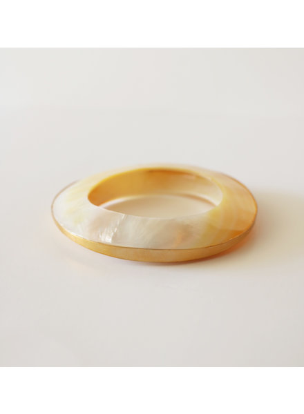 Gold Plated Shell Bangle